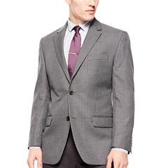 Izod® Gray Windowpane Sport Coat - Classic Fit