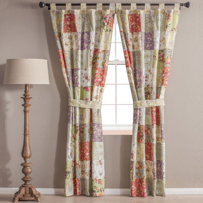 greenland home fashions blooming prairie 2pack tabtop cotton curtain panels - Greenland Home Fashions