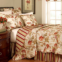 Waverly® Charleston Chirp Papaya Quilt Set & Accessories