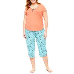 Sleep Chic Capri Pajama Set-Plus