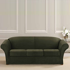 SURE FIT® Ultimate Heavyweight Stretch Suede 3 Cushion Separate Seat Sofa Slipcovers