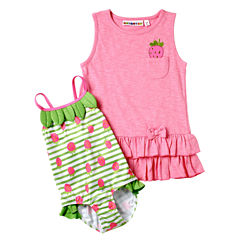 Wippete Girls One Piece+Cover-Ups-Toddler