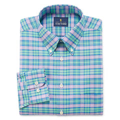 Stafford Long Sleeve Woven Plaid Dress Shirt