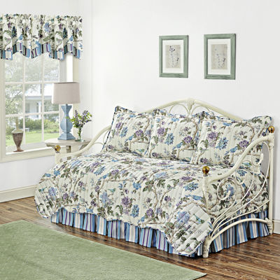 waverly charleston chirp larkspur 5pc reversible daybed cover set