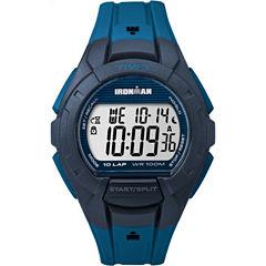 Timex Ironman Essential 10 Mens Blue Strap Watch-Tw5m114009j
