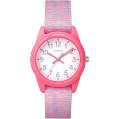 Timex Girls Pink Strap Watch-Tw7c123009j