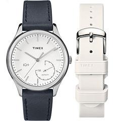 Timex IQ+ Move Womens Black Smart Watch-Twg013700f5