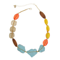 EL by Erica Lyons Gold Over Brass Beaded Necklace