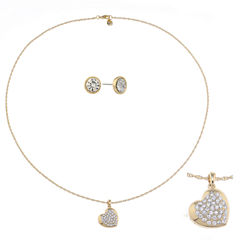 Monet Jewelry Womens 2-pc. Clear Jewelry Set