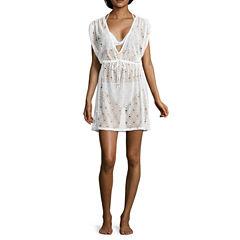 Arizona Crochet Swimsuit Cover-Up Dress-Juniors