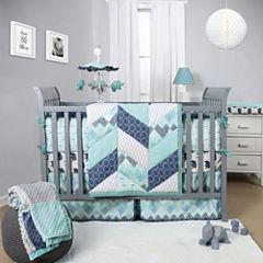 The Peanut Shell® 3-pc. Mosaic Crib Bedding Set
