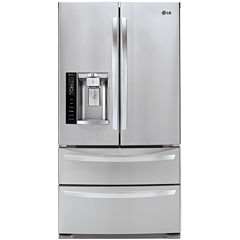LG ENERGY STAR® 26.7 cu. ft. Ultra Capacity 4-Door French Door Refrigerator with Double Freezer Doors