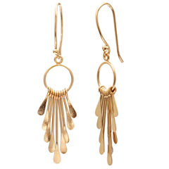 Gold Reflection Gold Over Brass Drop Earrings