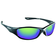 Fly Fish Cabo Sunglasses Black Amber Green Mirror