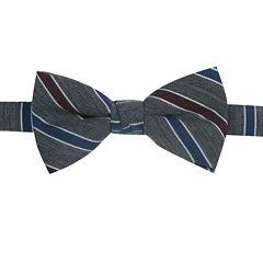 Haggar® Wool Blend Stripe Pre-Tied Bow Tie