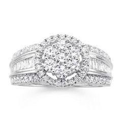 diamond blossom 1 CT. T.W. Diamond 10K White Gold Ring