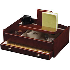 Mele & Co. Davin Mens Wooden Dresser-Top Valet