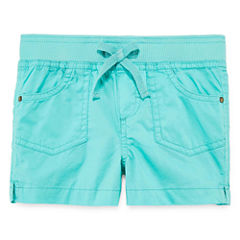 Arizona Knit At Waist Shortie Shorts - Toddler Girls