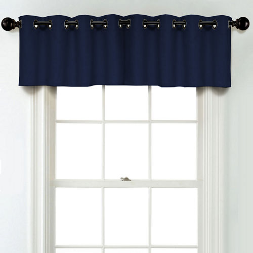 JCPenney Home Linen Grommet Unlined Tailored Valance