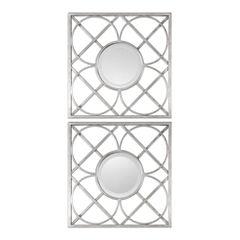 Yasmina Square Wall Mirrors (Set Of 2)