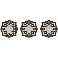 Set of 3 Bronze Curl Mirrors