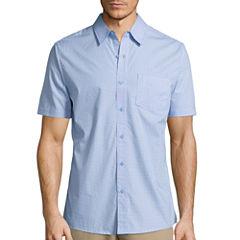 Haggar® Short-Sleeve Printed Woven Shirt