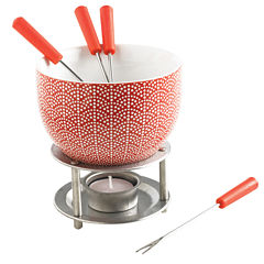 Mastrad® Rising Sun Red Chocolate Fondue Set