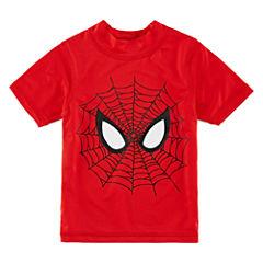 Boys Spiderman Rash Guard-Toddler