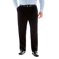 Stafford®  Executive Super 100 Wool Pleated Suit Pants – Big & Tall