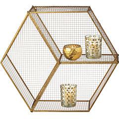 Hexagon Cubby Wall Shelf