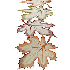 Maple Leaves Embroidered Table Runner