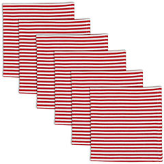 Peppermint Stripe Set of 6 Napkins