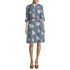 Trulli 3/4 Sleeve Shirt Dress