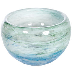 Knox And Harrison Artisan Hand-Blown Glass Decorative Bowl