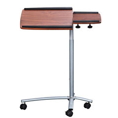 RTA Products LLC Techni Mobili Rolling Adjustable Laptop Cart