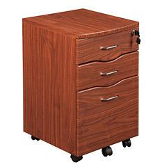 RTA Products LLC Techni Mobili Espresso Rolling Storage File Cabinet