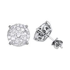 Brilliant Dream™  2 CT. T.W. Diamond Cluster Stud Earrings