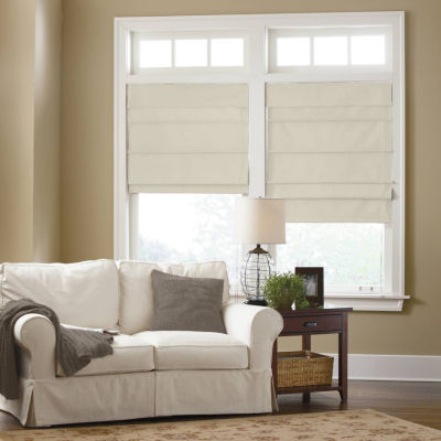 jcpenney home custom cotton classic thermal roman shade - Blackout Roman Shades