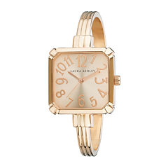 Laura Ashley Womens Rose Gold Bangle Watch-LA31024RG