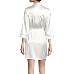 Intimo Donatella® The Bride Satin Wrap Robe