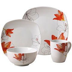 Tabletops Gallery® Lily 16-pc. Ceramic Dinnerware Set