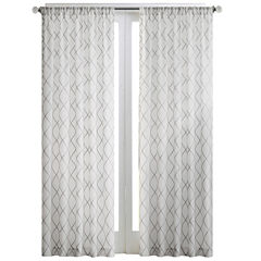 Madison Park Iris Diamond Sheer Rod-Pocket Curtain Panel