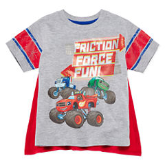 Short Sleeve T-Shirt-With Removable Cape-Toddler Boys