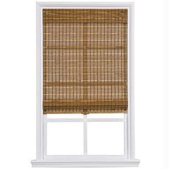Custom Cordless Bamboo and Jute Rope Roman Shade