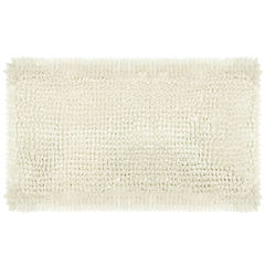 Laura Ashley Butter Chenille Bath Rug Collection