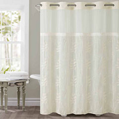 Hookless Palm Leaves Shower Curtain
