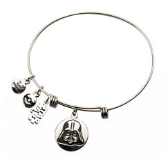 Star Wars® Stainless Steel Darth Vader Charm Bracelet