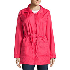 St. John's Bay Packable Wind Resistant Water Resistant Raincoat