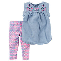 Carter's Ib 2pc Sets Legging Set-Baby Girls