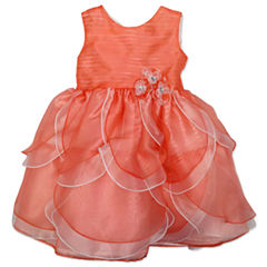 Nanette Baby Sleeveless Party Dress - Preschool Girls